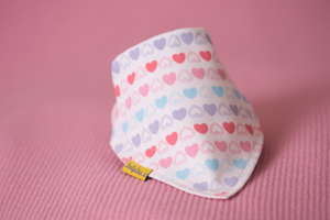 love hearts bandana bib