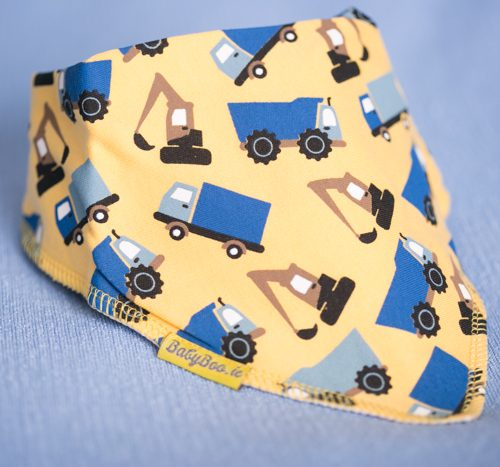 yellow trucks bandana bib