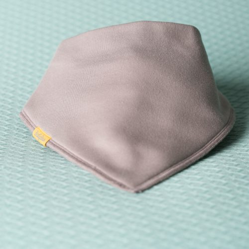 Just taupe organic cotton DribbleBoo bandana bib