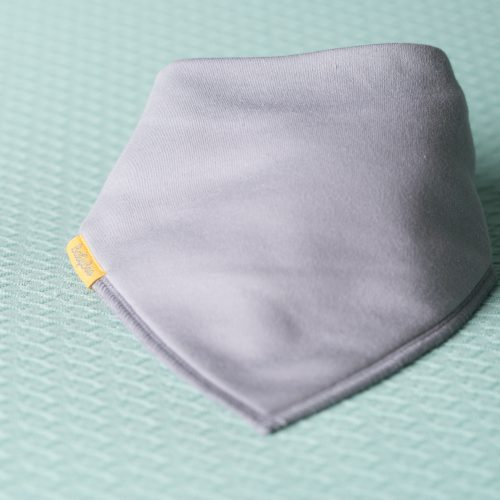 Just grey organic cotton DribbleBoo bandana bib
